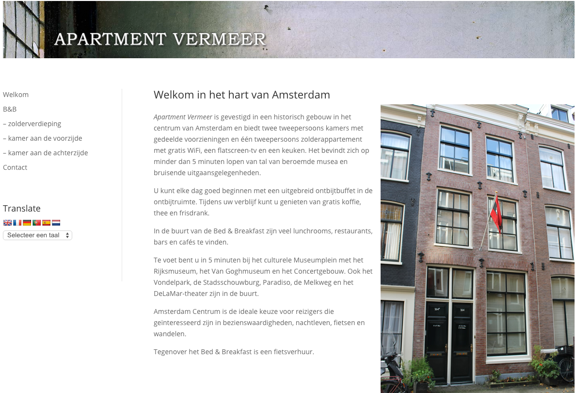screenshot Apartment Vermeer