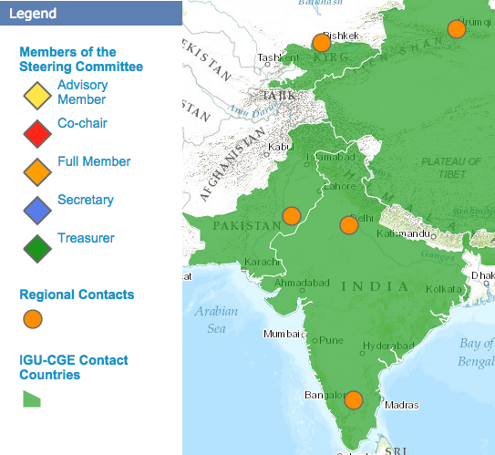 India and Pakistan on IGU-CGE map